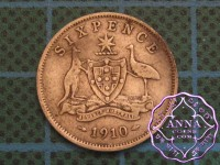 Australia 1910 Sixpence