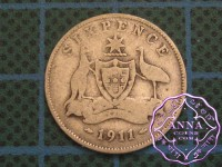 Australia 1911 Sixpence