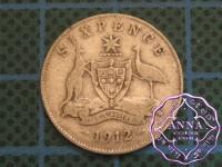 Australia 1912 Sixpence