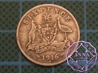 Australia 1916 Sixpence