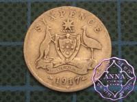 Australia 1917 Sixpence