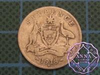 Australia 1918 Sixpence