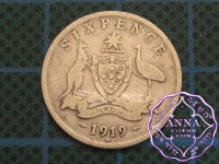 Australia 1919 Sixpence