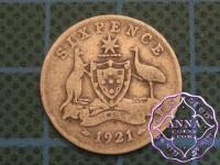Australia 1921 Sixpence