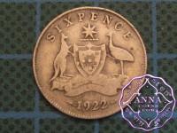 Australia 1922 Sixpence