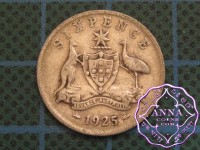 Australia 1925 Sixpence