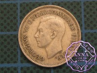 Australia George VI 92.5 Silver Sixpence Average Circulated Condition