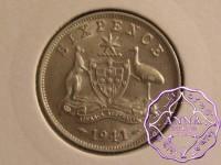 Australia 1941 Sixpence