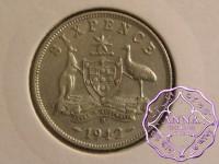 Australia 1942 D Sixpence