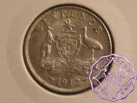 Australia 1942 S Sixpence