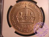 Australia 1938 Crown NGC MS61
