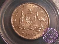 Australia 1936 Florin PCGS MS63