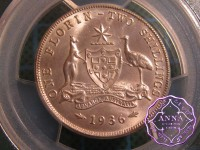 Australia 1936 Florin PCGS MS64