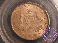 Australia 1910 Florin PCGS MS64