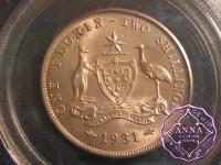 Australia 1931 Florin PCGS MS64