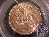 Australia 1934-35 Centenary Florin PCGS MS64+