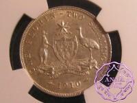 Australia 1910 Florin NGC AU53