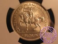 Australia 1934/5 George V Melbourne Florin NGC MS65