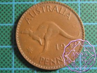 Australia 1940 Penny Average Circulated Condition