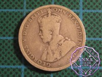 Australia George V 92.5 Silver Shilling Average Circulated Condition