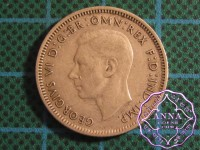 Australia George VI .50 Silver Shilling Average Circulated Condition