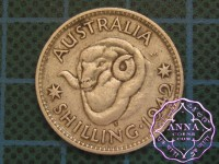 Australia 1942 S  Shilling Average Circulated Condition