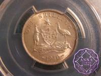 Australia 1910 Shilling PCGS MS63