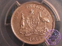 Australia 1935 Shilling PCGS AU55