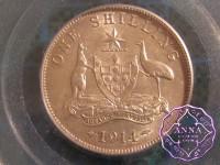 Australia 1914 Shilling PCGS AU55