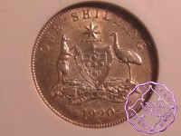 Australia 1920 M Shilling NGC AU58