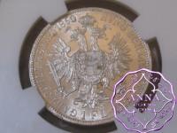 Austria 1860 A Franz Joseph I Florins NGC MS63