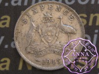 Australia 1945 Sixpence Average Circulated Condition