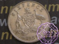Australia 1951 Sixpence, High Condition