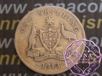 Australia 1913 Shilling Average Circulated Condition