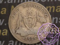 Australia 1915 H Shilling Average Circulated Condition