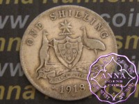 Australia 1918 Shilling Average Circulated Condition