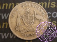 Australia 1922 Shilling Average Circulated Condition