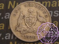 Australia 1926 Shilling Average Circulated Condition