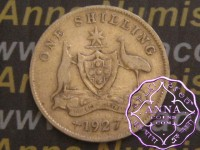 Australia 1927 Shilling Average Circulated Condition
