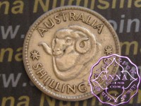 Australia 1940 Shilling Average Circulated Condition