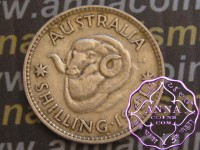 Australia 1941 Shilling Average Circulated Condition
