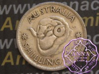 Australia 1944 S Shilling Average Circulated Condition