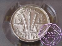 Australia 1942 Threepence PCGS AU58