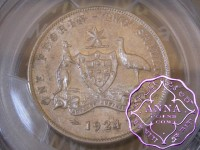 Australia 1924 Florin PCGS AU58