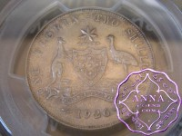 Australia 1926 Florin PCGS AU58