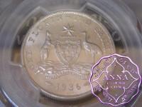 Australia 1936 Florin PCGS MS62