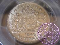 Australia 1946 Florin PCGS MS63+