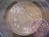 Australia 1910 Florin PCGS MS63