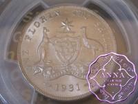 Australia 1931 Florin PCGS MS64+