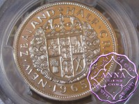 NZ 1965 Proofflike Half Crown PCGS PL66